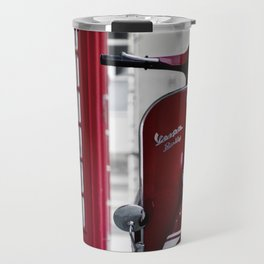 Classic Red Vespa Travel Mug