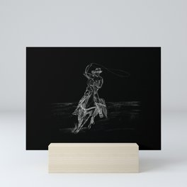 Cowboy Roping Mini Art Print