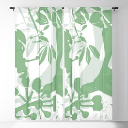 BC green silhouette Blackout Curtain
