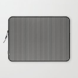Simple Black & White Licorice Cabana Stripe Laptop Sleeve