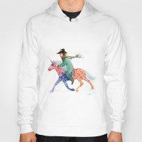 cowboy Hoodies featuring Cowboy by Ksenia Sapunkova