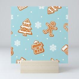 Gingerbread Cookies & Snowflakes Mini Art Print