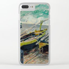 Three Fishing Boats by Claude Monet Clear iPhone Case