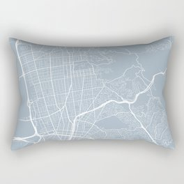 Berkeley Map, USA - Slate Rectangular Pillow