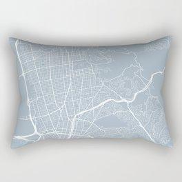 Berkeley Map, USA - Slate Rectangular Pillow