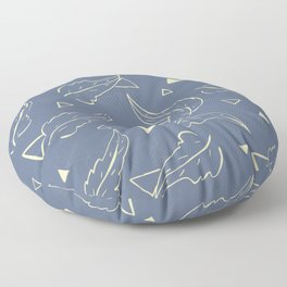 Triangleaves Floor Pillow