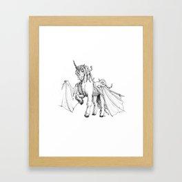 Dragonicorn Framed Art Print