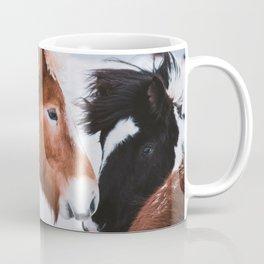 Icelandic Horses in Winter Landscape of Iceland Coffee Mug