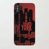 cities iPhone & iPod Cases featuring Cities by Colin Webber