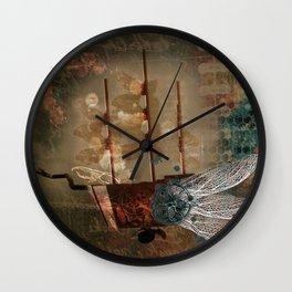 Flying machine Wall Clock