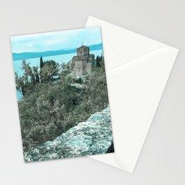 Church of St. John at Kaneo, Ohrid, Macedonia Stationery Cards