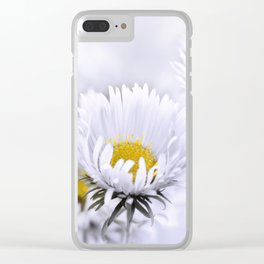 Flowers white macro 072 Clear iPhone Case