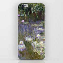 Water Lilies 1922 by Claude Monet iPhone Skin
