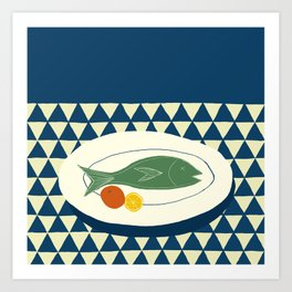 Fish Supper II Art Print