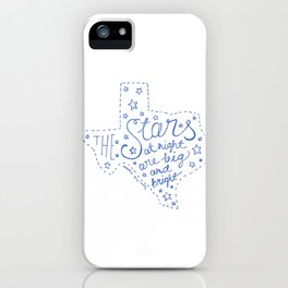 Stars at Night in blue iPhone Case