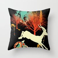 african Throw Pillows featuring African Life by Dimitra Tzanos