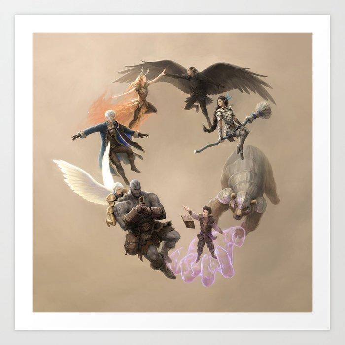 Vox Machina Wreath Art Print