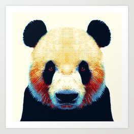 Panda - Colorful Animals Art Print