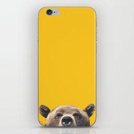Bear - Yellow iPhone Skin
