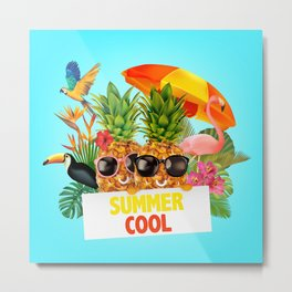 Summer Cool Metal Print