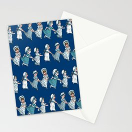 RETRO NURSERY SCHOOL in blue Stationery Cards
