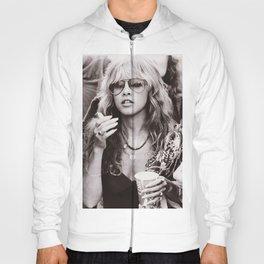 Stevie Nicks Young Black and white Retro Silk Poster Frameless Hoody