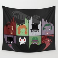 gotham Wall Tapestries featuring Gotham Villains by I.Nova