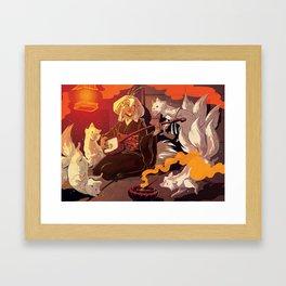 Fox Spirits Framed Art Print