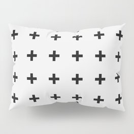 Black Plus on White /// Black n' White Series Pillow Sham