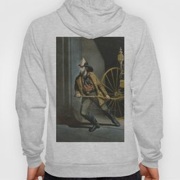 Historical American Firefighter Illustration (1858) Hoody