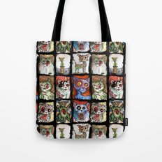 9 zombie cats Tote Bag