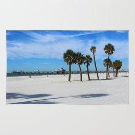 Clearwater Pier And Beach Rug