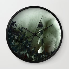 Cape Hatteras lighthouse on the Outer Banks of Nort Carolia Wall Clock