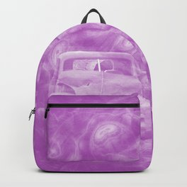 wreck exploding from fracture purple fractal Backpack