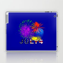 America 4th of July Fireworks Laptop & iPad Skin