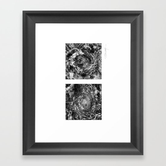 Nature's Twisted Path Black and White Framed Art Print