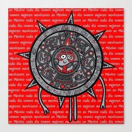 Mexicanitos al grito - Calendarito Azteca Canvas Print