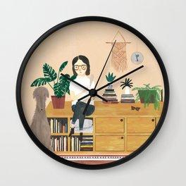 A girl and her doggo Wall Clock