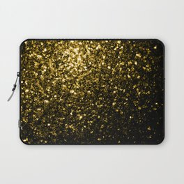 Beautiful Yellow Gold sparkles Laptop Sleeve