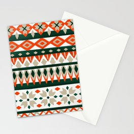 Winter Knit – Evergreen & Coral Stationery Cards