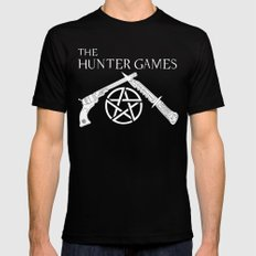 The Hunter Games Black Mens Fitted Tee MEDIUM