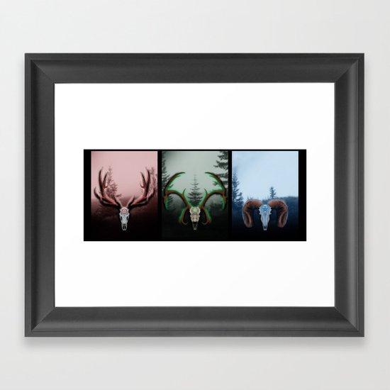 C Horns Framed Art Print