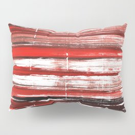 Red-black abstract Pillow Sham