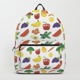 Colorful Fruits and Vegetables Backpack