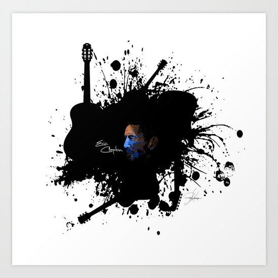 Blue Clapton Art Print