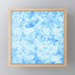 Pastel sky stars on a light background in the projection. Framed Mini Art Print