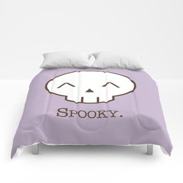 Spooky Skull Kawaii | Halloween Is Coming! Comforters