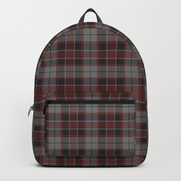 Red Hatched Plaid Backpack