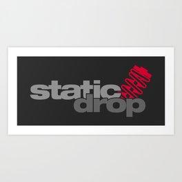 Static drop v1 HQvector Art Print