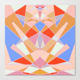 Flat Geometric no.35 Shapes and Layers Canvas Print